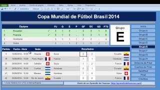 Fixture Mundial Brasil 2014 En Excel
