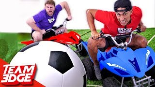 Rocket League In Real Life Challenge!!