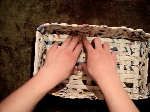 MANUALIDADES ☺ FRUTERO DE PAPEL PERIÓDICO O DIARIO POR GEORGIO - newspaper basket fruit bowl