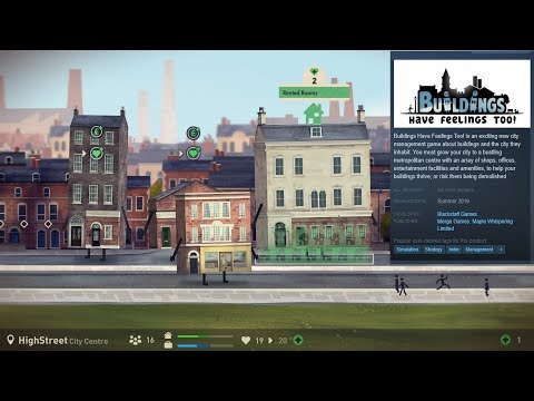 + Buildings Have Feelings Too! + PREVIEW / Trailer + Funny Building Management Sim +