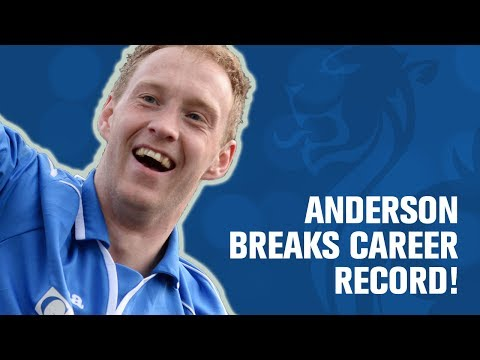 Defender Anderson breaks career record with goal!