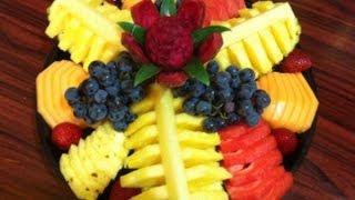 Platón de fruta para regalo