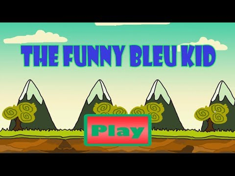 Colorful Game  - Funny Little Blue Mario Kid Hit Mushrooms and Collecting Coins