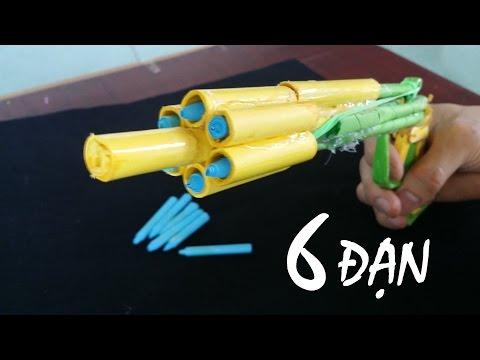 Làm Súng ổ xoay bắn 6 Đạn Giấy | Đồ chơi sáng tạo