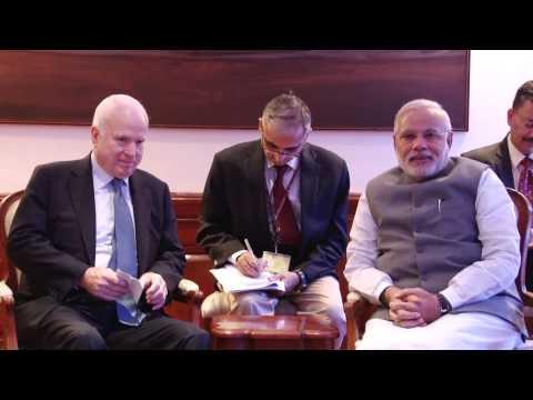 US Senator John McCain meets PM Narendra Modi