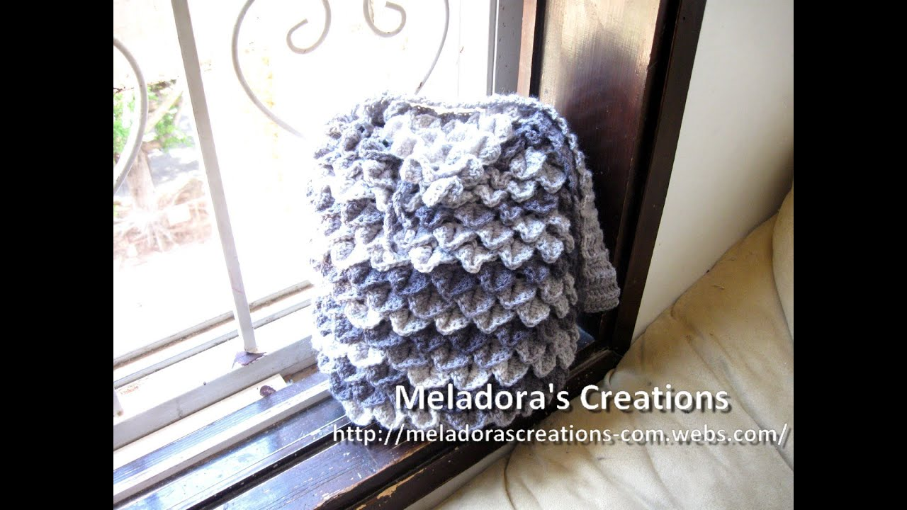 Crocodile Stitch Draw Bag - Crochet Tutorial - YouTube
