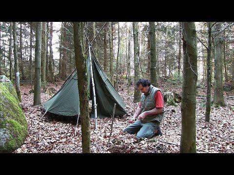 Tagebuch eines Waldläufers Teil 1 - Lager aufbauen und Wald erkunden