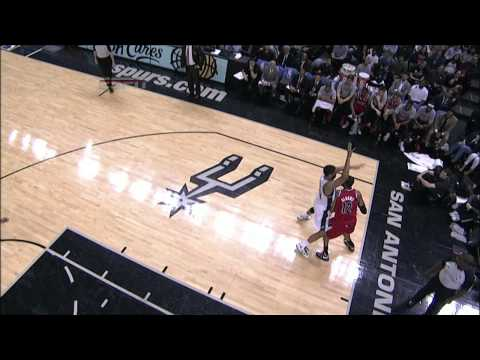 LaMarcus Aldridge Sinks from Behind the Backboard