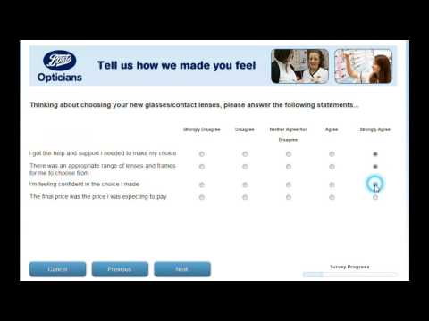 www.ourbootsopticians2.com Boots Opticians survey video by Surveybag