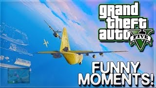GTA 5 Online Funny Moments - Glitches, Lagging Sanders, Wallbreach, & Titan Fun!