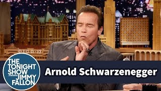 Jimmy Fallon's Cigar Licking Embarrassed Arnold Schwarzenegger