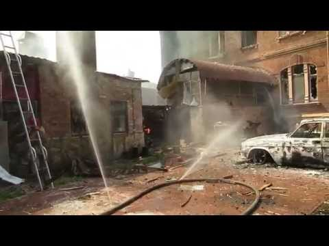 Slavyansk: Ukrainian artillery job  08/06/2014 / #Ukrainian Civil War