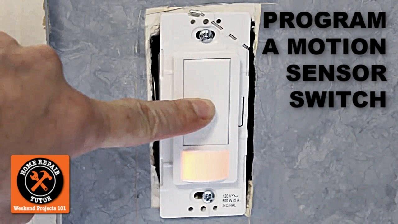 How To Program The Maestro Motion Sensor Light Switch