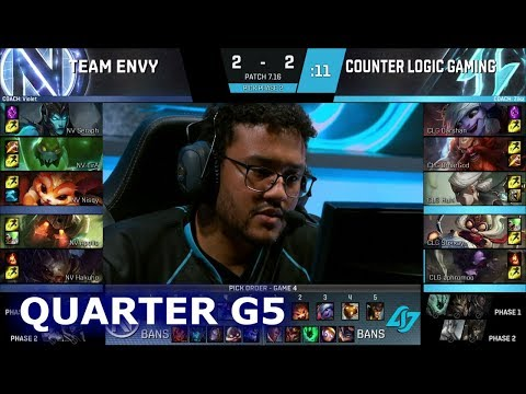 CLG vs Team EnVyUs | Game 5 Quarter Finals S7 NA LCS Summer 2017 Play-Offs | CLG vs NV G5 QF