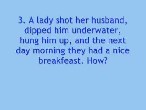 Funny Hard Riddles with Answers