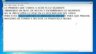 COMO QUITAR EL MENSAJE DE WINDOWS XP