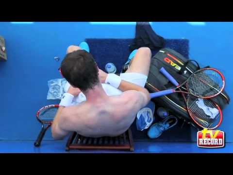 Entrenamiento Andy Murray 21 Feb