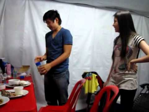 JoshBie drinking Vegetable Juice