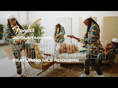 """Nile Rodgers Performs """"Inside The Box"""" with the Acoustasonic Stratocaster 
