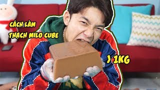 Vật Vã Với Viên Thạch MILO CUBE Nặng Hơn 1KG!! KHỔNG LỒ!!