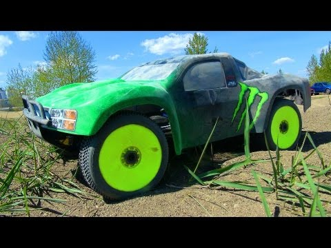 RC ADVENTURES - ELECTRiC & NiTRO - BASHiNG RC TRUCKS at the TRACK!