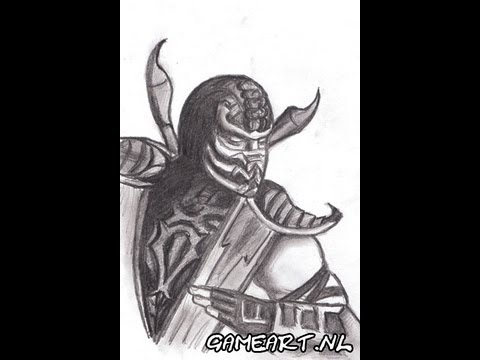 how to draw injustice scorpion