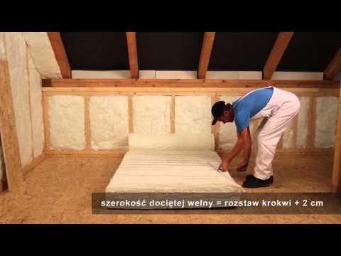 Ursa - izolacja dachu skośnego wełną mineralną