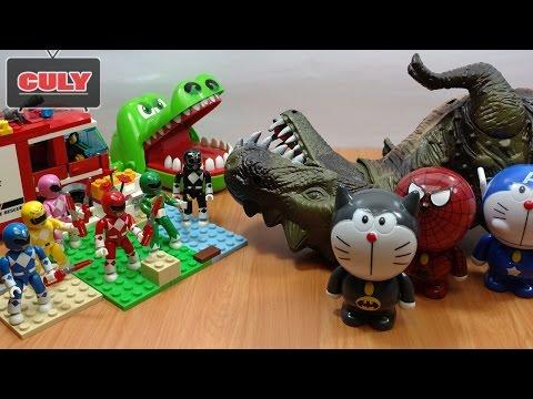 siêu nhân Khủng long bạo chúa cá sấu cắn tay nobita doremon chế người nhện đồ chơi trẻ em toys kids