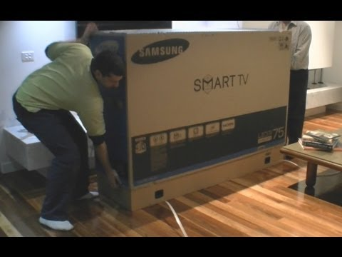 Samsung Led Tv 75 Quot 8000 Series Unboxing Youtube