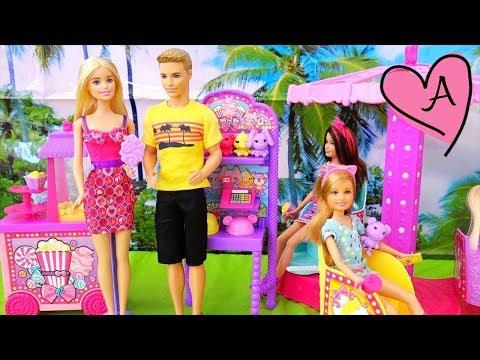 Barbie y sus hermanas van a la feria con revisión de juguetes de Barbie en español