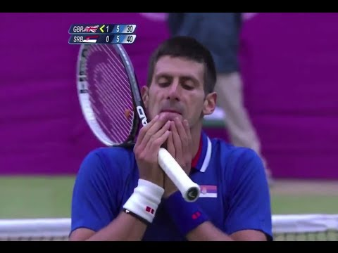 [HD] Novak Djokovic vs. Andy Murray Olympic 2012 Semifinal HIGHLIGHTS