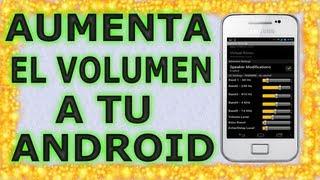 Aumentar volumen de Android