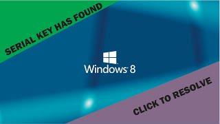 Como Recuperar A Chave Serial Key Do Windows 8