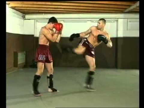Boxe thai entrainement 2 - Jerome Le Banner