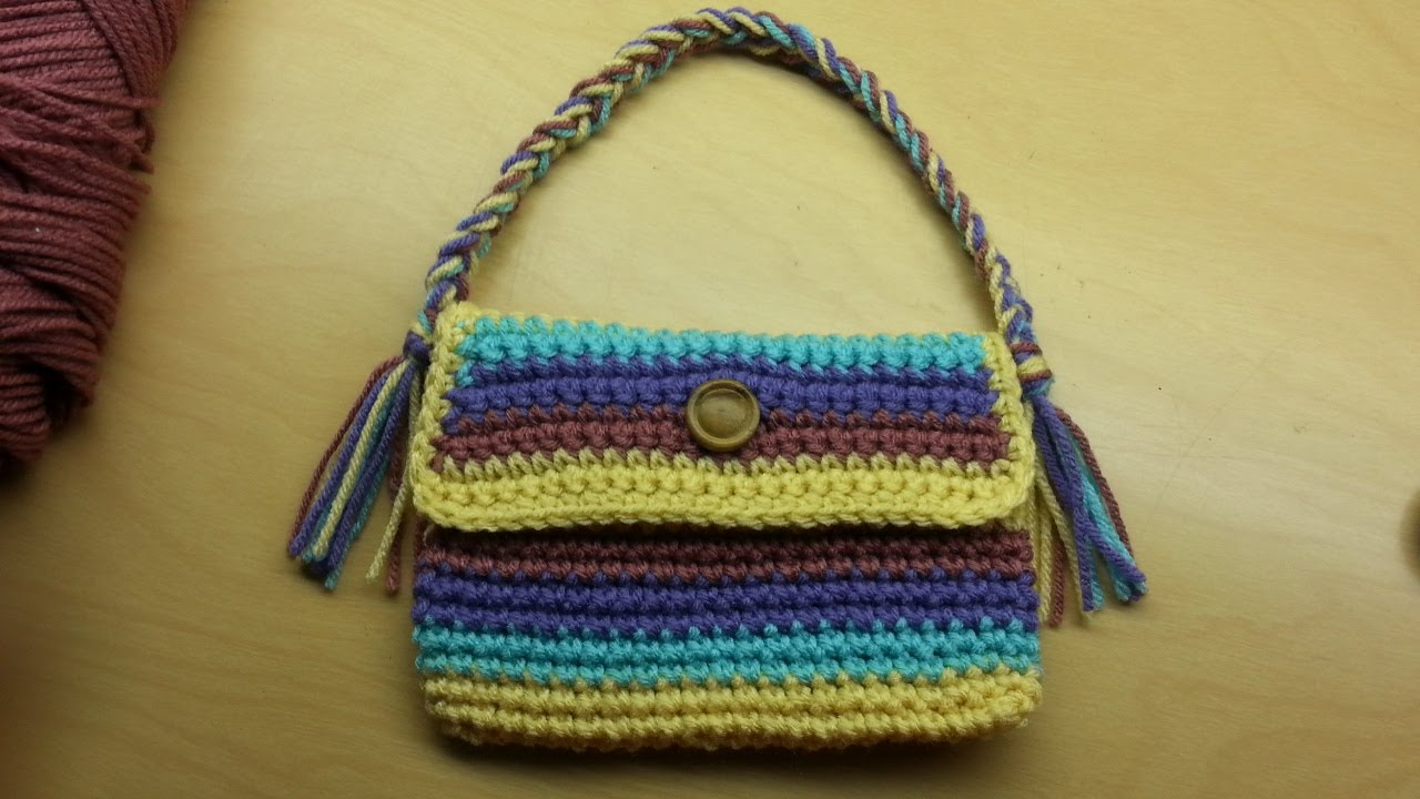 Crochet Bag Youtube : Crochet #purse #handbag #TUTORIAL - YouTube