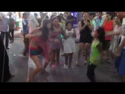 Lady vs Girl-Khmer New Year 2014_Pub Street Siem Reap_street dance_Part2