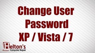 Change User Password XP / Vista / 7