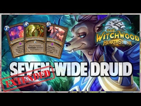 Seven Wide Druid | Extended Gameplay | Hearthstone | The Witchwood