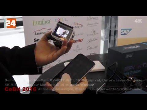 CeBit 2016- Somikon 4K Action Cam DV 4017 WiFi