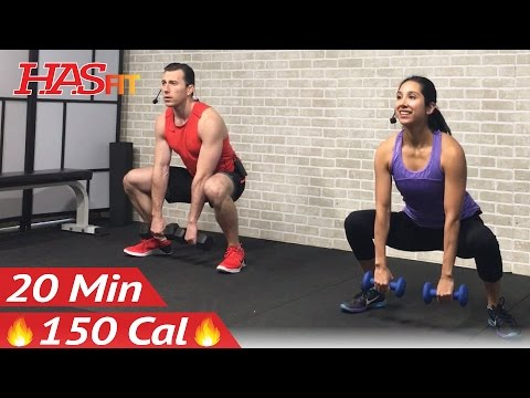 20 Min Beginner Strength Training for Beginners Workout - Weight Lifting Dumbbell Workouts Women Men