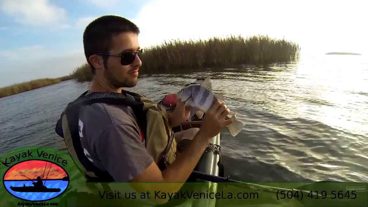 Venice louisiana kayak fishing youtube for Kayak fishing louisiana