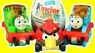 Kinder Surprise Magic Unwrapping Thomas Percy Lightning McQueen and Red Angry Bird
