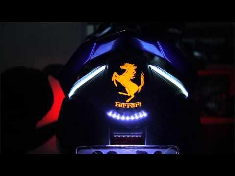 độ led Audi đèn sau Exciter 2011-2014 logo Ferrari, xi nhan Lamborghini kiểu lượn sóng