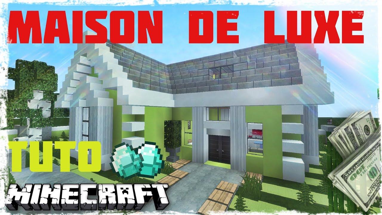 Tuto minecraft comment faire une maison de luxe traditionnelle youtube - Comment creer une belle maison dans minecraft ...