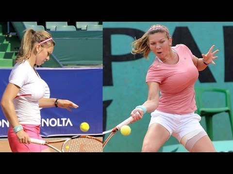 Simona Halep Beautiful Romanian Tennis Star (Before reduction surgery)