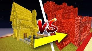 Thử Thách Làm Nhà Đá Phát Sáng Trong Minecraft