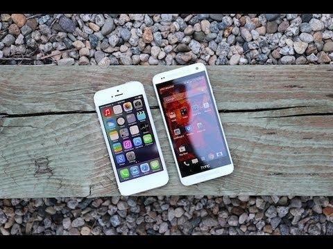 iphone 5 vs htc one mini youtube