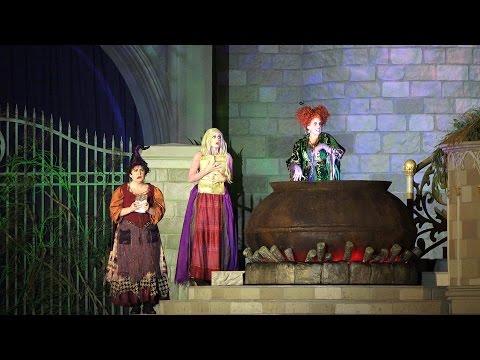 Hocus Pocus Villain Spelltacular Full Show | Mickey's Not-So-Scary Halloween Party 2015