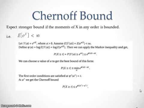 Markov inequality and tail bounds