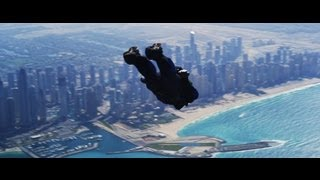 Skydiving over Dubai